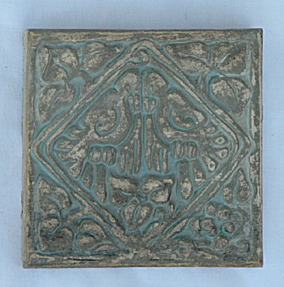 Batchelder Tile - Two Plumed Birds #1 (Image1)