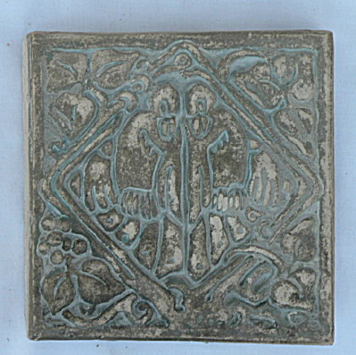 Batchelder Tile - Two Birds in a Diamond #2 (Image1)