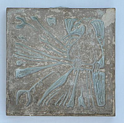 Peacock on Branch Batchelder Tile (Image1)