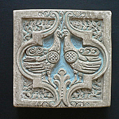 Batchelder Tile with Two Birds (Image1)
