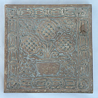 Three Flowers in an Urn - Batchelder Tile #2 (Image1)