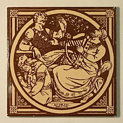 Alfred � English History Antique Tile (Image1)
