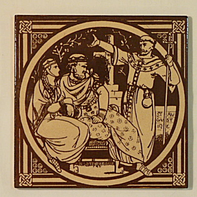 St. Augustine – English History Antique Tile (Image1)