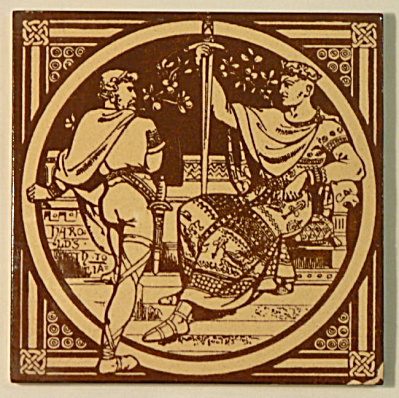 Harold�s Oath � English History Antique Tile (Image1)