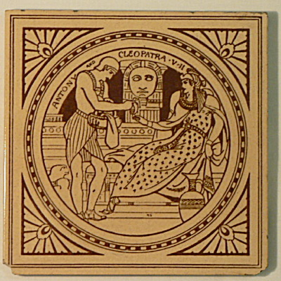 Antony & Cleopatra - Shakespeare Antique Tile (Image1)