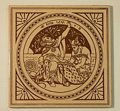 King Lear - Shakespeare Antique Tile (Image1)
