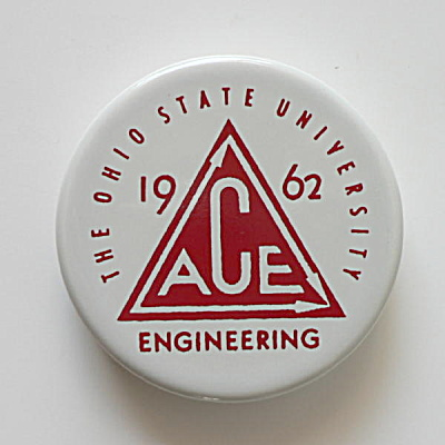 Ohio State University Vintage Tile Paperweight  (Image1)