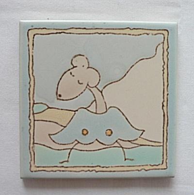 Santa Monica Tile (Taylor) with Animal Figure (Image1)