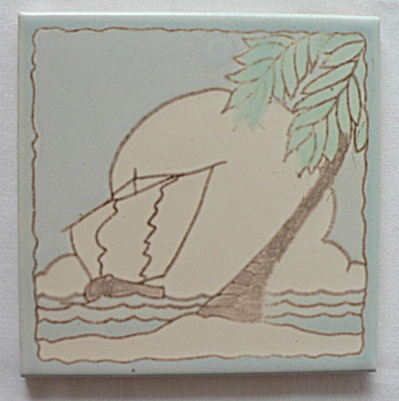 Santa Monica Tile (Taylor) With Sailboat