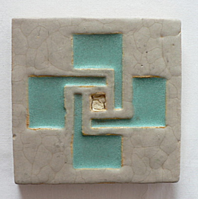 Wheatley Pottery Swastika Symbol Tile (Image1)