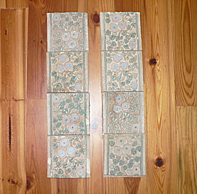Claycraft Tiles Set of 8 Vintage Calif A & C (Image1)