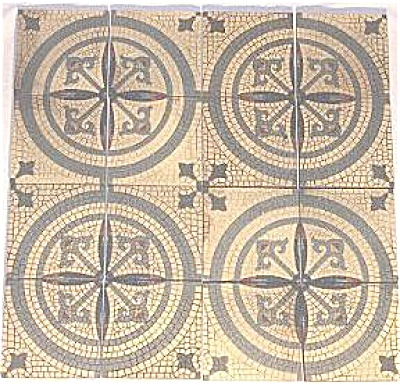 Antique Villeroy & Boch mosaic look floor tiles (Image1)