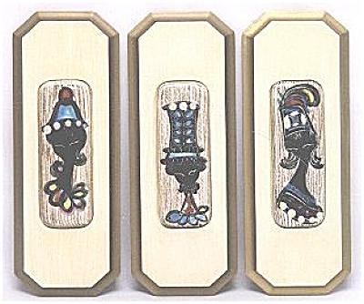 Three Fantoni Style Moderne tiles (Image1)