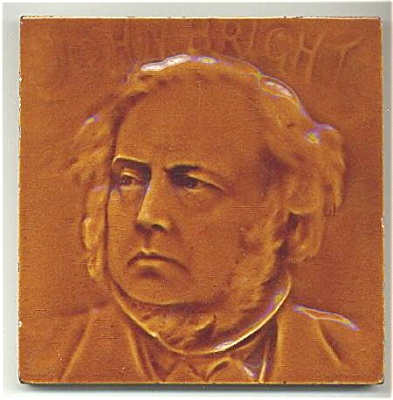 Rare Antique English Portrait Tile of John Bright (Image1)