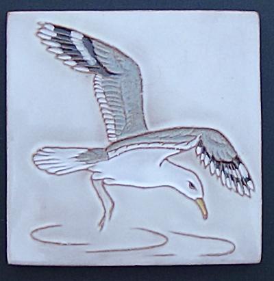 Seagull Tile - Mckusick Gila Pottery 1974 (Image1)
