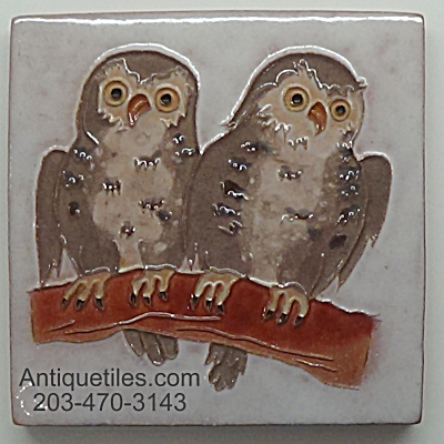 Desert House Crafts ~ DHC ~ 2 Young Owls on Branch (Image1)