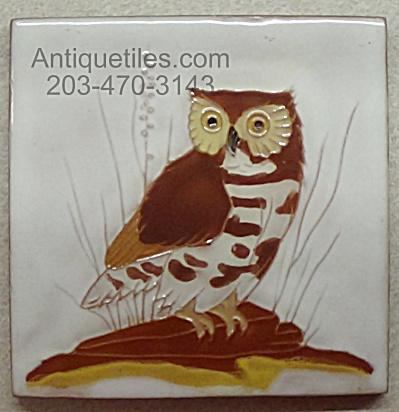 Gaskins Gila Arts ~ Burrowing Owl ~ Tile (Image1)