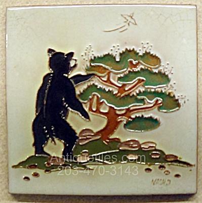 Daniel Nash Tile of A Bear Standing at a Juniper Tree (Image1)
