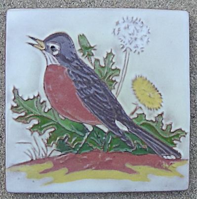 Robin Tile By The Mckusicks / Gila Pottery