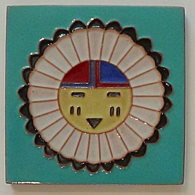 6 inch ~ DHC Zuni Sun Face  (Image1)
