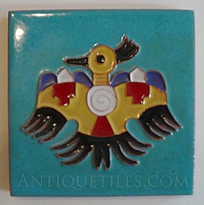 6 inch Desert House Thunderbird Tile by Dan & Bebe Lotz (Image1)