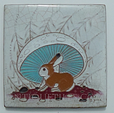 Beatien Yazz - Gila Pottery - Rabbit Under Mushroom