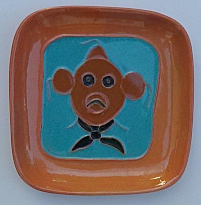 Mckusick Pottery Mud Head Dish 1950's (Image1)