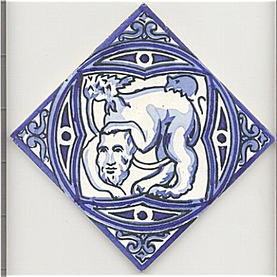 Tile with mythical creature (Image1)