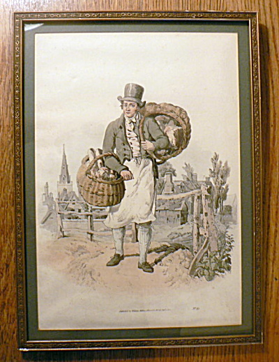 The Baker - Hand Colored Aquatint - England 1805