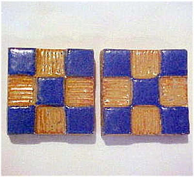 Pair of Mosaic Tile Company tiles - checkerboard design (Image1)