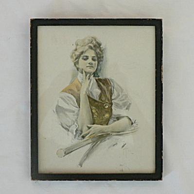 Harrison Fisher Print 1906 The Tennis Champion (Image1)