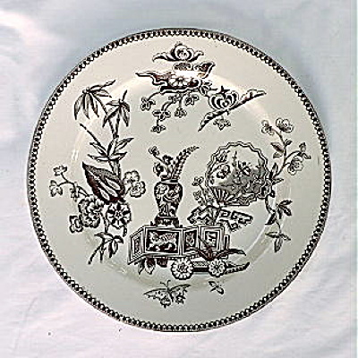 Aesthetic Movement Transferware Plate
