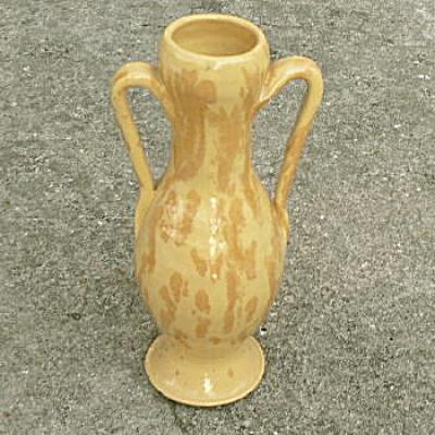 Southern Folk Pottery Tall Yellow Pot (Image1)