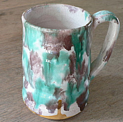 Southern Folk Pottery Handled Mug
