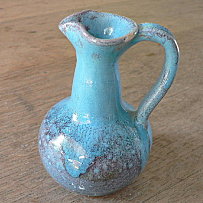 North State Pottery Chinese Blue Syrup Pitcher (Image1)