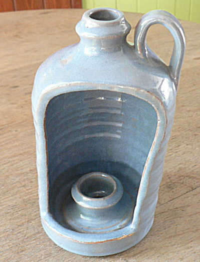 Blue Hooded Pottery Candle Holder (Image1)