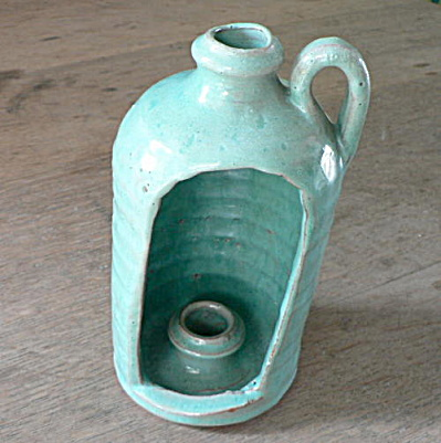 Southern Folk Pottery Candle Holder