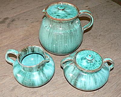 Nell Cole Graves Mottled Green Tea Set (Image1)