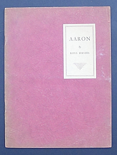 Aaron - By Rhys Davies - Signed By Author