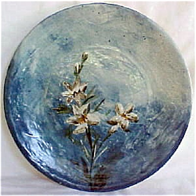 Early wheatley pottery hand painted plate art pottery at for Where to buy ceramic plates to paint