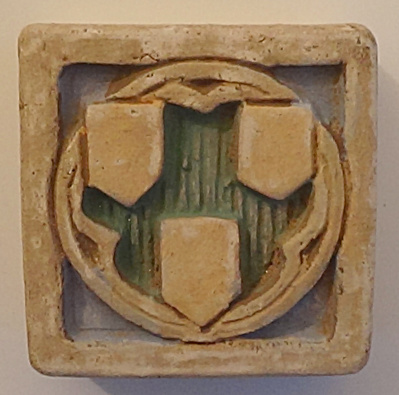 "2"" Claycraft Tile With 3 Shields"