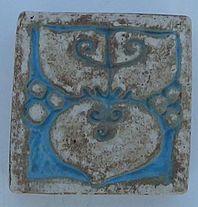 "2"" Claycraft Tile ~ Pomegranate (Image1)"