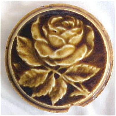Antique American Stove Tile with Rose (Image1)