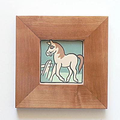 Vintage Whimsical Horse Tile by Mosaic Tile Company (Image1)