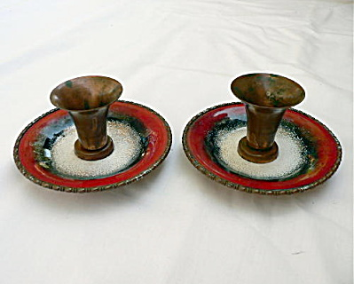 Pair Of Nekrassoff Candle Holders