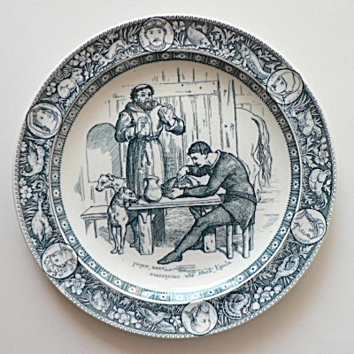 Wedgwood Ivanhoe Plate Friar Tuck & Black Knight