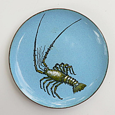 Nekrassoff Hand Painted Lobster Dish