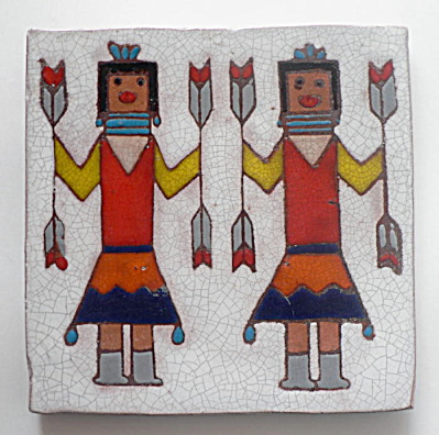 Tile with Kachina Figures (Image1)
