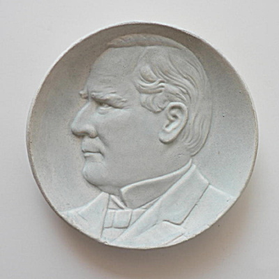 Weller Pottery Plaque McKinley (Image1)