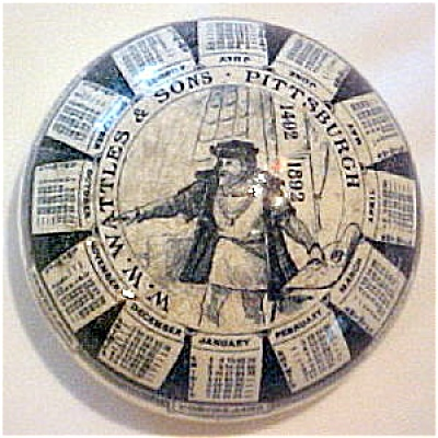 Antique Columbian Expo Advertising Calendar Paperweight (Image1)